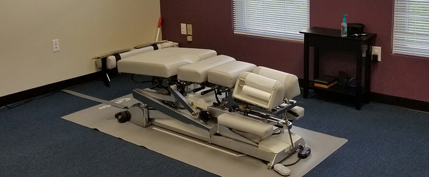 Adjustment table at Tuckahoe Family Chiropractic serving Richmond, Henrico, and Tuckahoe