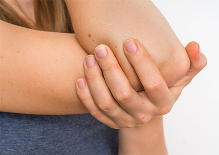 Pain in the arm and elbow