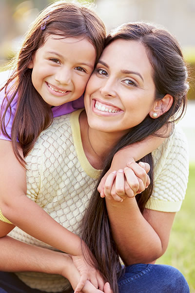Mother and daughter are happy after chiropractic care