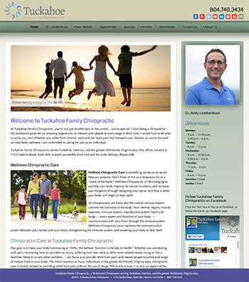 Tuckahoe Family Chiropractic website